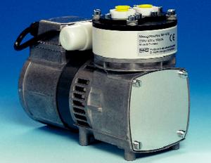 Pompa membranowa do zastosowań analitycznych, seria MP® Wersja MP47/R oraz MP47-Z/R ze zintegrowanym zaworem iglicowym do regulacji natężenia przepływu