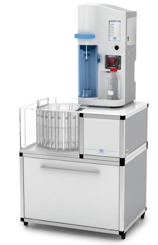 Automatyczny aparat do destylacji z parą wodną  z wbudowanym titratorem i autosamplerem UDK 169 firmy Velp