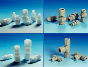 Złączki przewodów sztywnych i elastycznych, seria 1 – 3  Złączki przewodów sztywnych i elastycznych  Seria 1 – 3 Materiał: PP, PVDF, PTFE