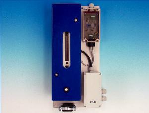 Rotametr, seria FM® Wersja FM-2K dla układów do 180 °C Wersja FM-200K-H ogrzewana elektrycznie do 180 °C, z wlotowym zaworem iglicowym