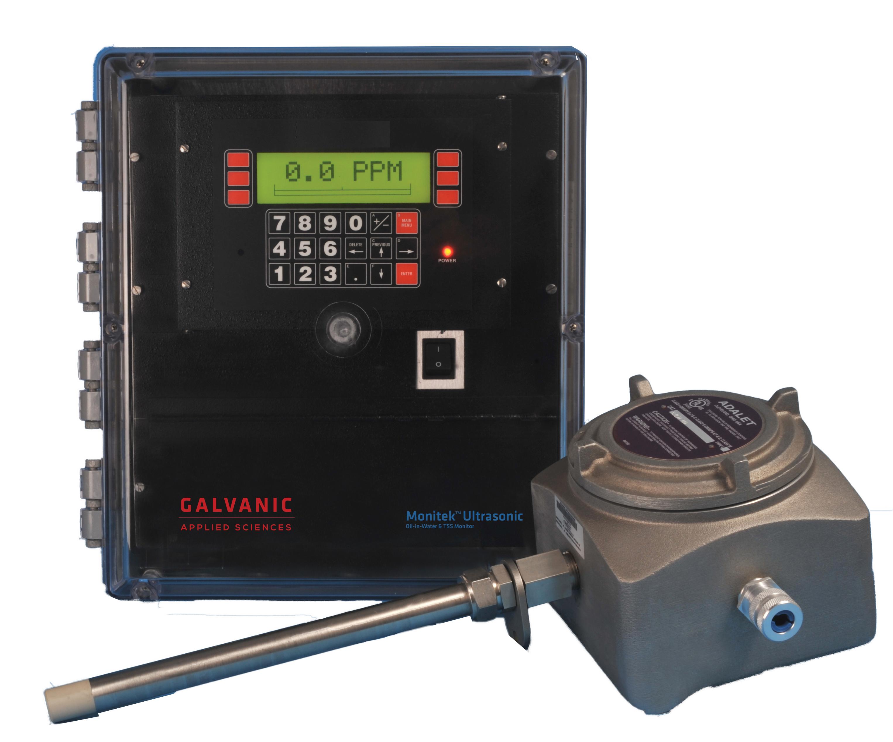 Monitek UltraSonic – zestaw pomiarowy składający się z przetwornika i sondy do pomiaru oleju-w-wodzie oraz zawiesiny