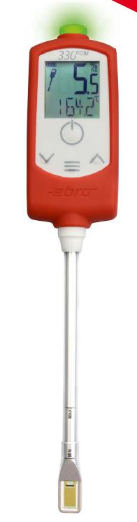Analizator jakości oleju spożywczego FOM 330 firmy Ebro  – z kompensacją  temperatury oraz świetlną sygnalizacją jakości oleju