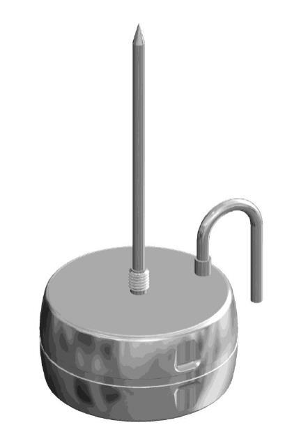 Rejestrator temperatury EBI12 T43X z dwoma sondami zewnętrznymi temperatury. Do kontroli procesu pasteryzacji